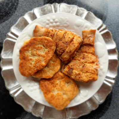 plate of fried fish and dough