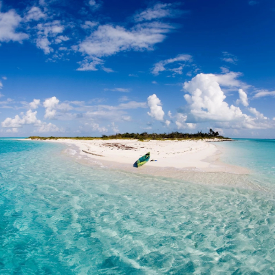 island with clear blue water and white sand